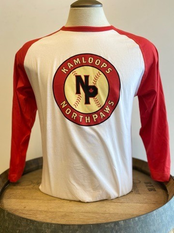 NorthPaws Men's Red & White Baseball Tee